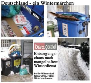 Deutschland - ein Wintermärchen (Hausmüll-Entsorgung)