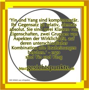 Yin und Yang sind gesichtspunkte