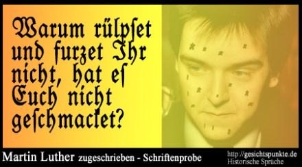 Serie: Historische Sprüche - Martin Luther - Tischreden