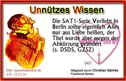 Unnützes Wissen: Verliebt in Berlin!