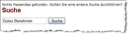 """screenshot - Suche """"gutes Benehmen"""" - zwecklos hier!"""