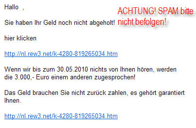 screenshot SPAM-Email 26.05.10