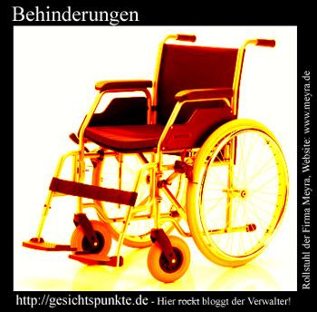 Behinderungen - Rollstuhl