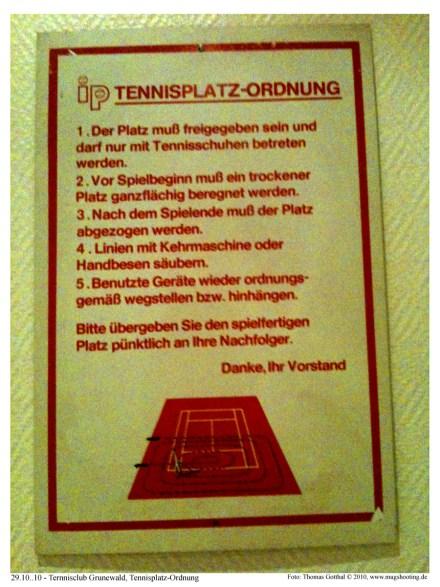 Tennisplatzordnung Tennisclub Grunewald