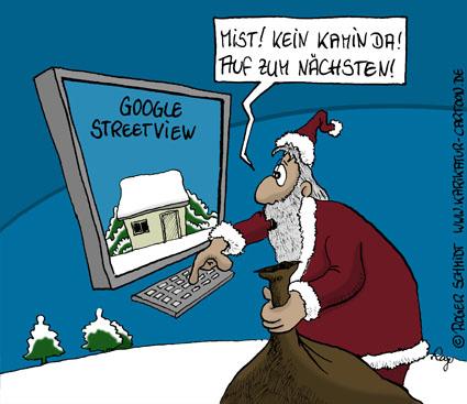 Weihnachtsmann 2010 - Google Street View