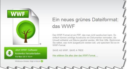 Screenshot, nicht ausgedruckt von saveaswwf.com