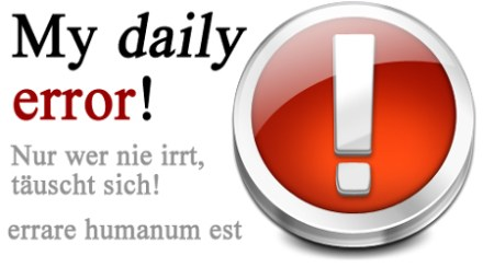 "Banner ""my daily error"""