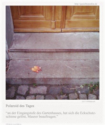 Polaroid des Tages: Eckschutzschiene gelöst