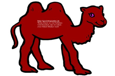 Gesichtspunkte eines Kamels!