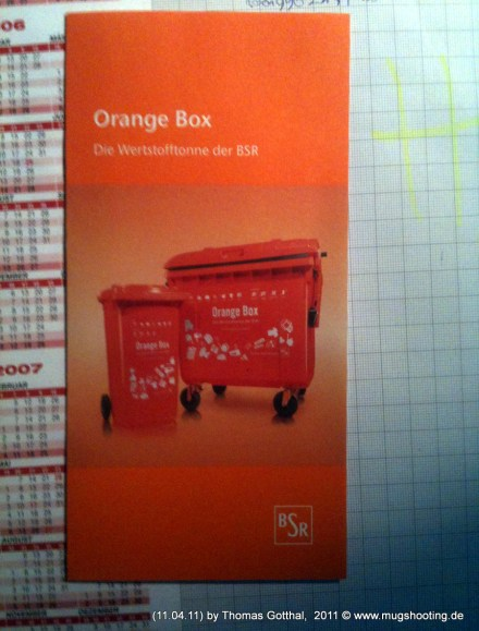 Orange Box - Werbeprospekt