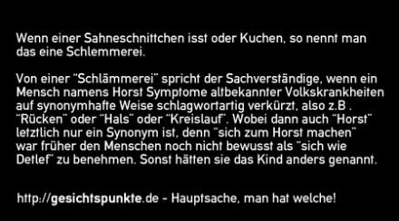 Schlemmerei versus Schlämmerei!