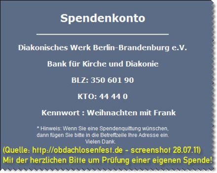 obdachlosenfest.de - Bankverbindung! Gültigkeit bitte prüfen!