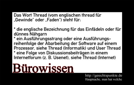 "Bürowissen 02.2011 ""Thread"""