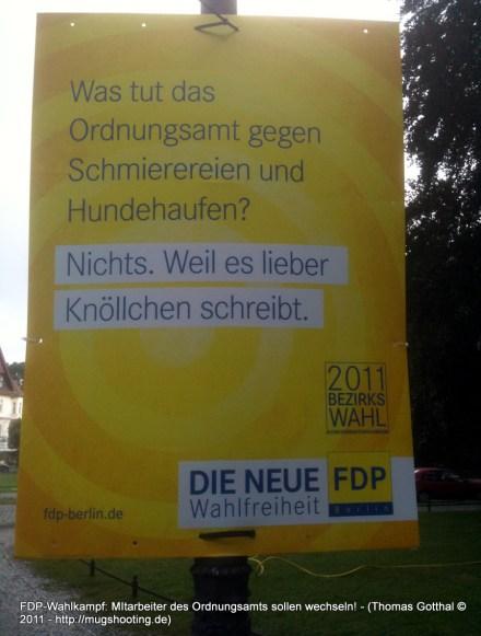 FDP-Wahlplakat zur Berliner Wahl 2011