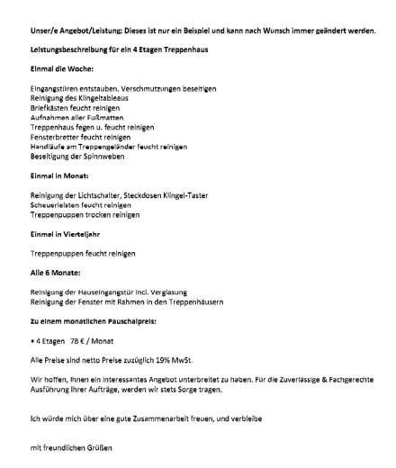 Treppenhaus-Reinigung: Ein unmoralisches Angebot!
