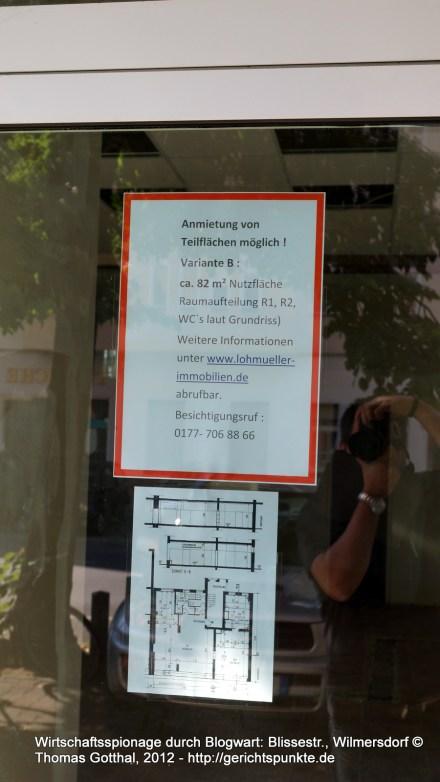 Wirtschaftsspionage durch Blogwart: Blissestr., Wilmersdorf