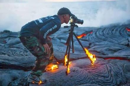 Mann Fotograf Lava
