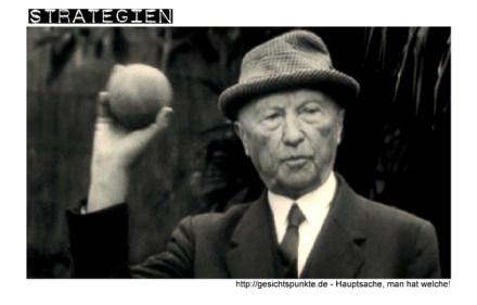 Strategien: Konrad Adenauer beim Boccia