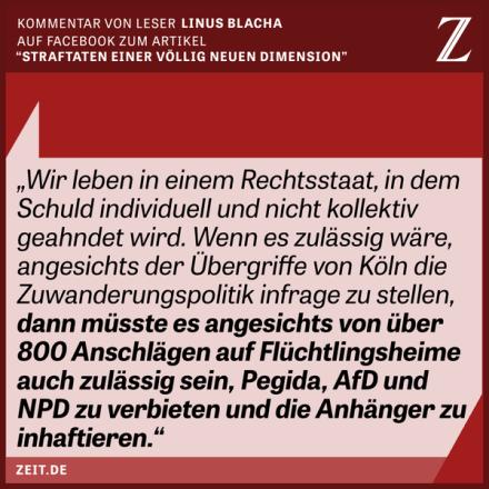 Zeit Leserkommentar (Quelle: Die Zeit, online)