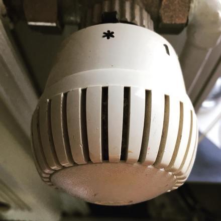 Heizkörper-Thermostatventil (Foto: Lo Graf von Blickensdorf, Januar 18)