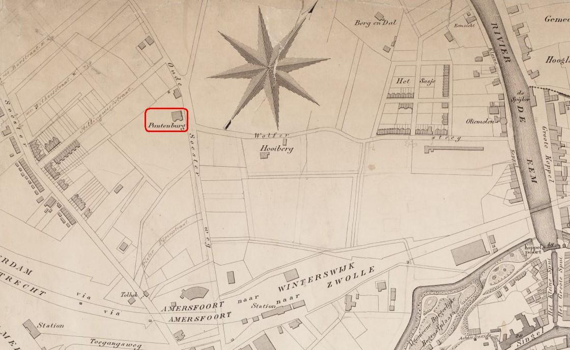 puntenburg - kaart 1888