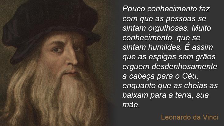 Sobre conhecimento - Leonardo da Vinci