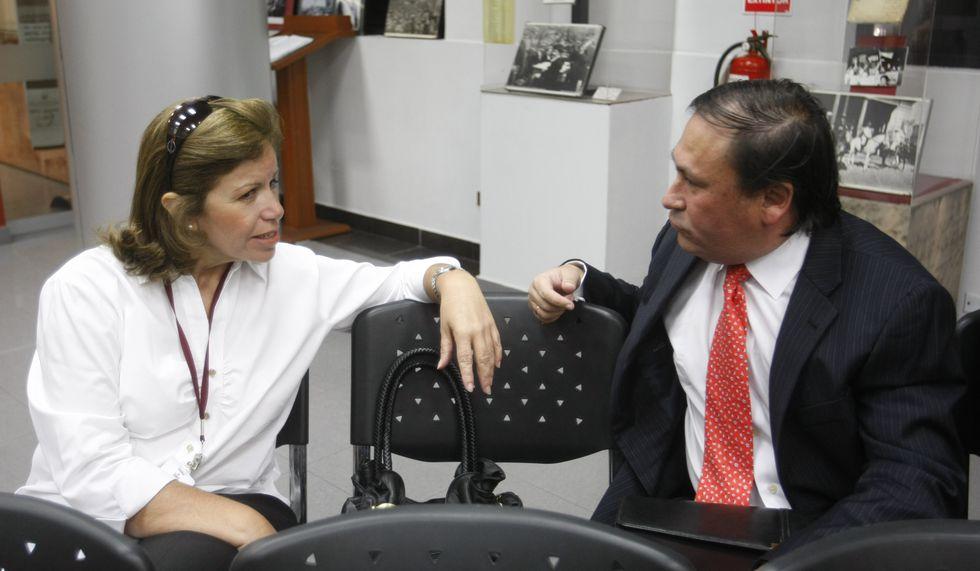 Lourdes Flores y Horacio Cánepa.