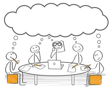Gemeinsam nachdenken – Brainstorming – meeting