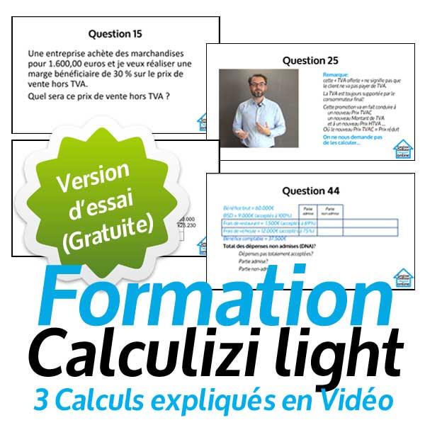 Essai gratuit Cours gestion Calculizi light