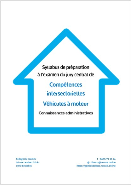 Syllabus de competences intersectorielles véhicules