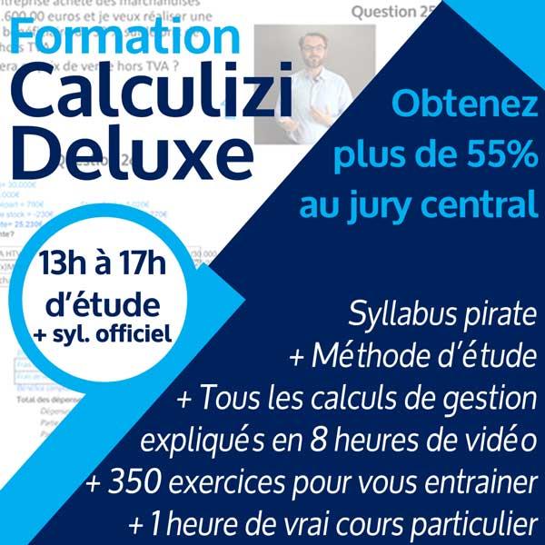 Image résumé formation gestion Calculizi Deluxe