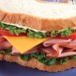 El queso del sandwich
