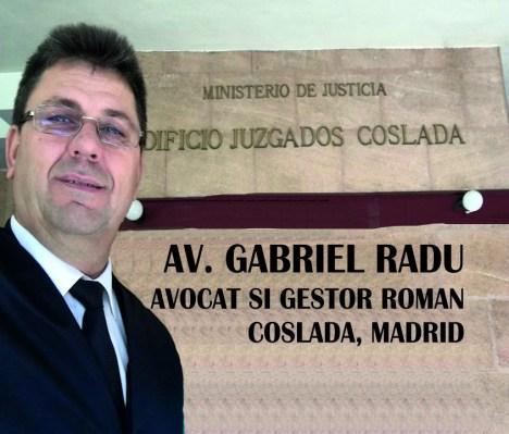 Gabriel Radu - Avocat si gestor roman in Coslada, Madrid