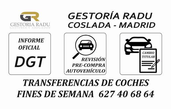 GESTORIA FINES DE SEMANA EN MADRID. TRANSFERENCIAS DE COCHES Y TRÁMITES DGT