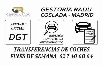 GESTORIA RADU TRANSFERENCIA DE COCHES FINES DE SEMANA EN MADRID