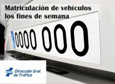 Matriculación de vehículos fines de semana en Madrid