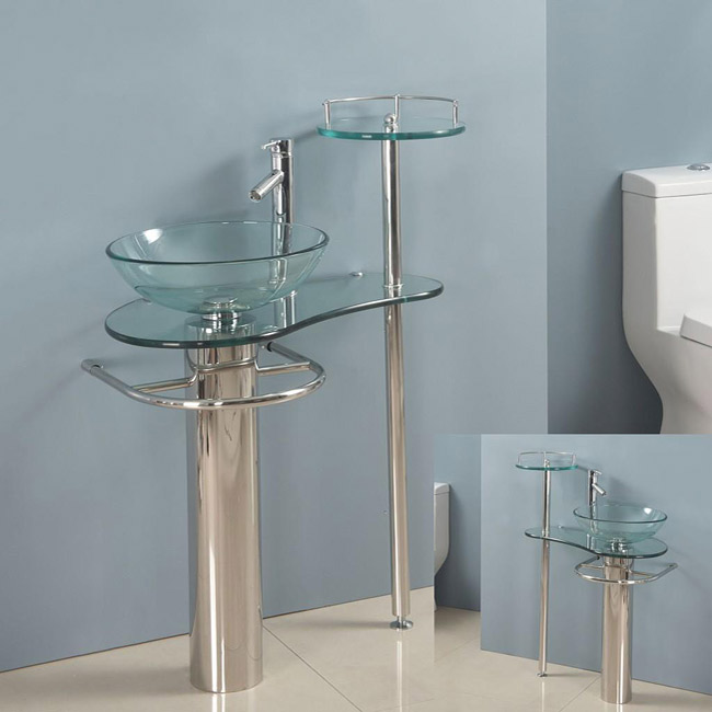 Kokols-Wallmount-Bathroom-Pedestal-Glass-Sink