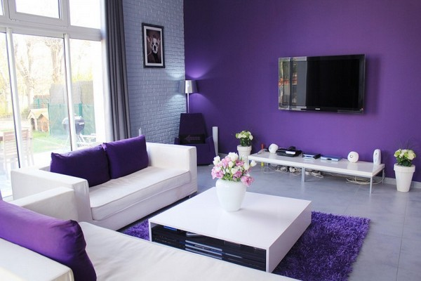 Purple living room