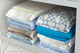 Storing fitted flat sheets