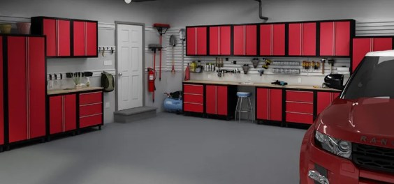 Ultimate Red Organized Garage