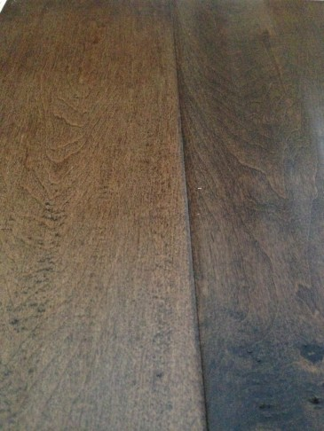 Hand scraped hardwood