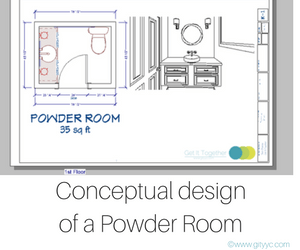 Conceptual design of powder room