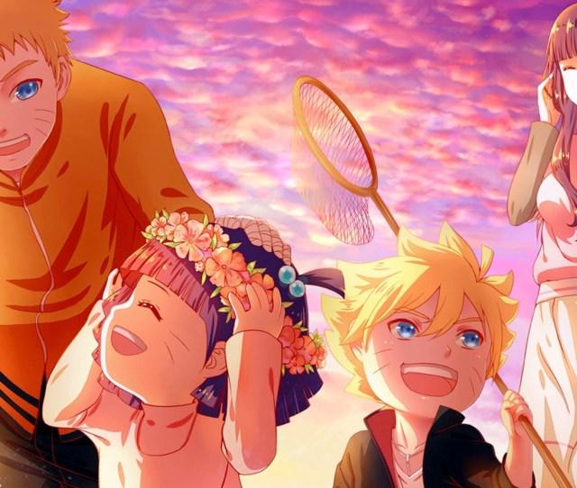 1920x1080 Px Anime Familias Hyuuga Hinata Naruto Shippuuden Puesta De Sol Uzumaki Boruto Uzumaki Himawari Uzumaki