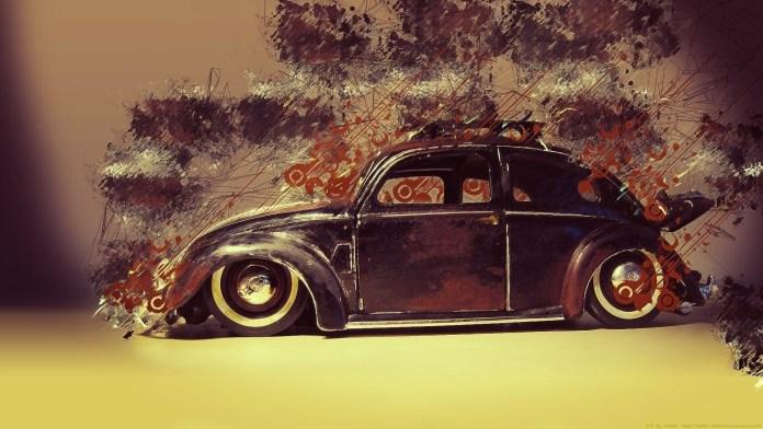 wallpaper : 1920x1080 px, artwork, classic car, digital art, lines
