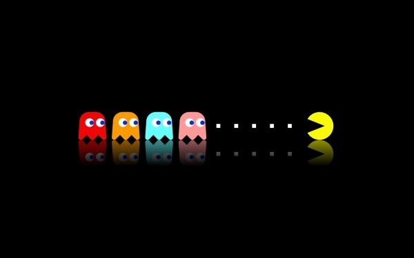 Wallpaper 2560x1600 px minimalism Pac Man retro games