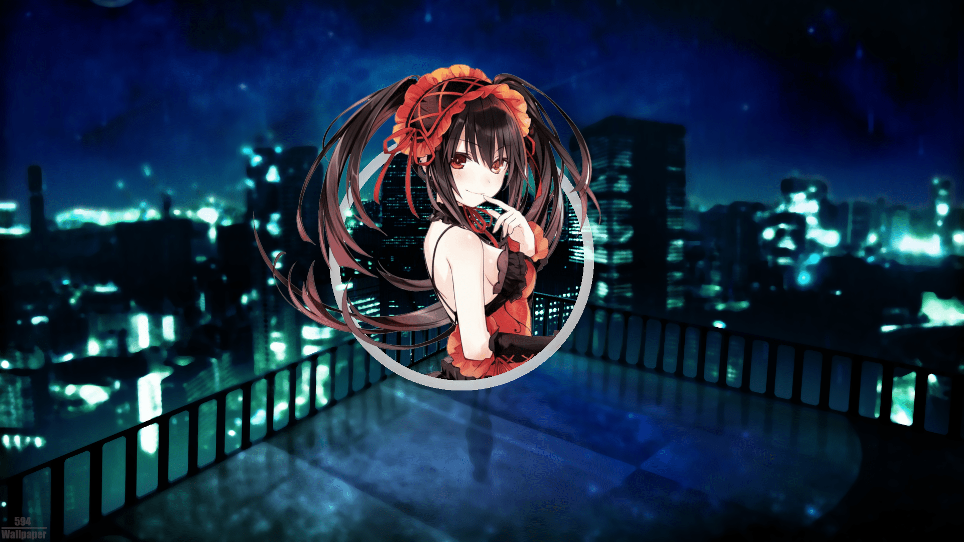 1366x768 animated movies wallpapers for 1366x768 resolution devices. Wallpaper : Wallpaper anime, Date A Live, night view ...