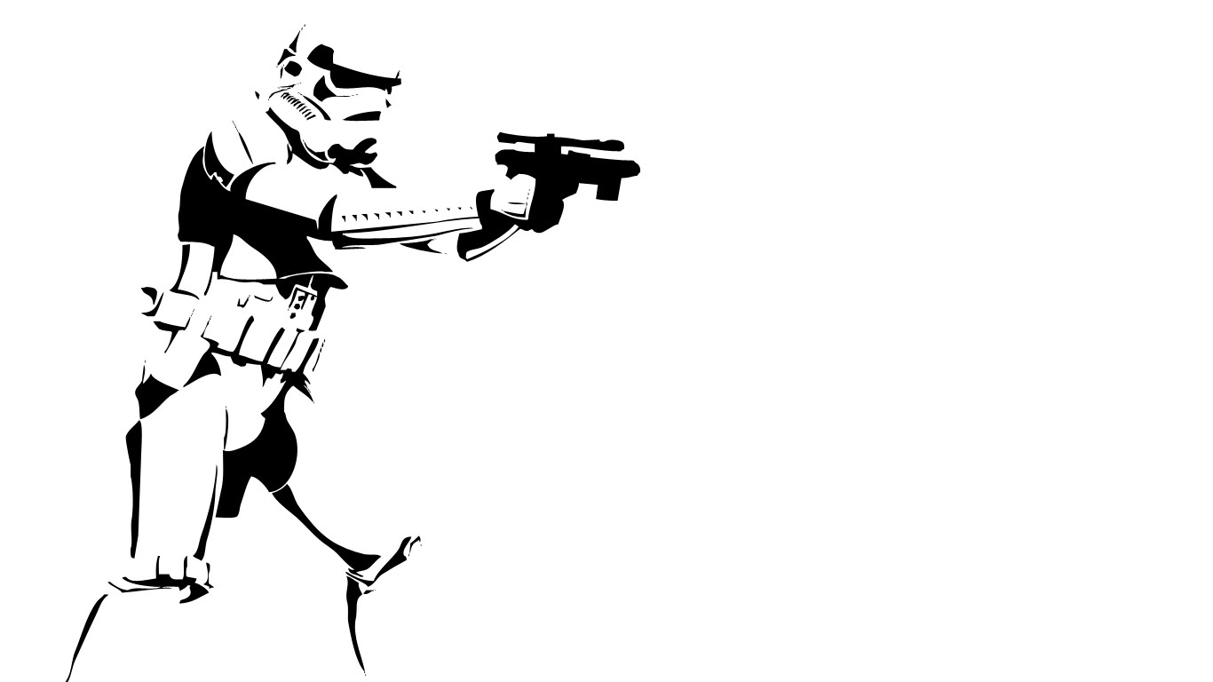 Wallpaper Illustration Star Wars Weapon Silhouette