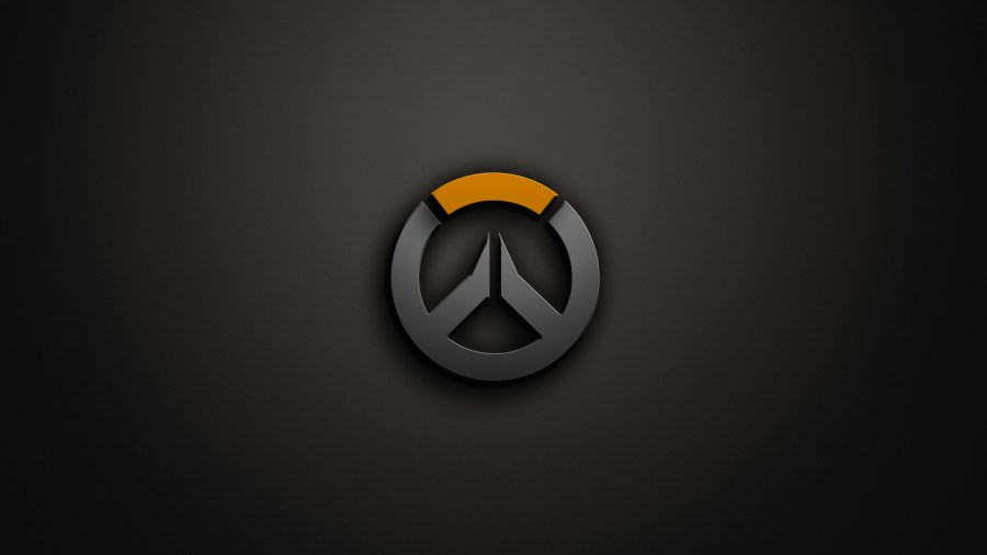 Wallpaper   digital art  video games  simple background  artwork     digital art video games simple background artwork logo Overwatch circle  brand symbol graphics 1920x1080 px computer