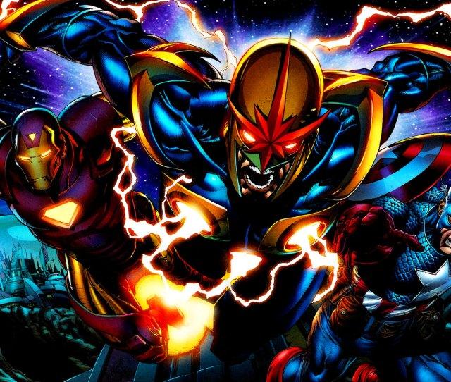 Illustration Marvel Comics Iron Man Captain America Comics Nova Computer Wallpaper Fictional Character Comic Book