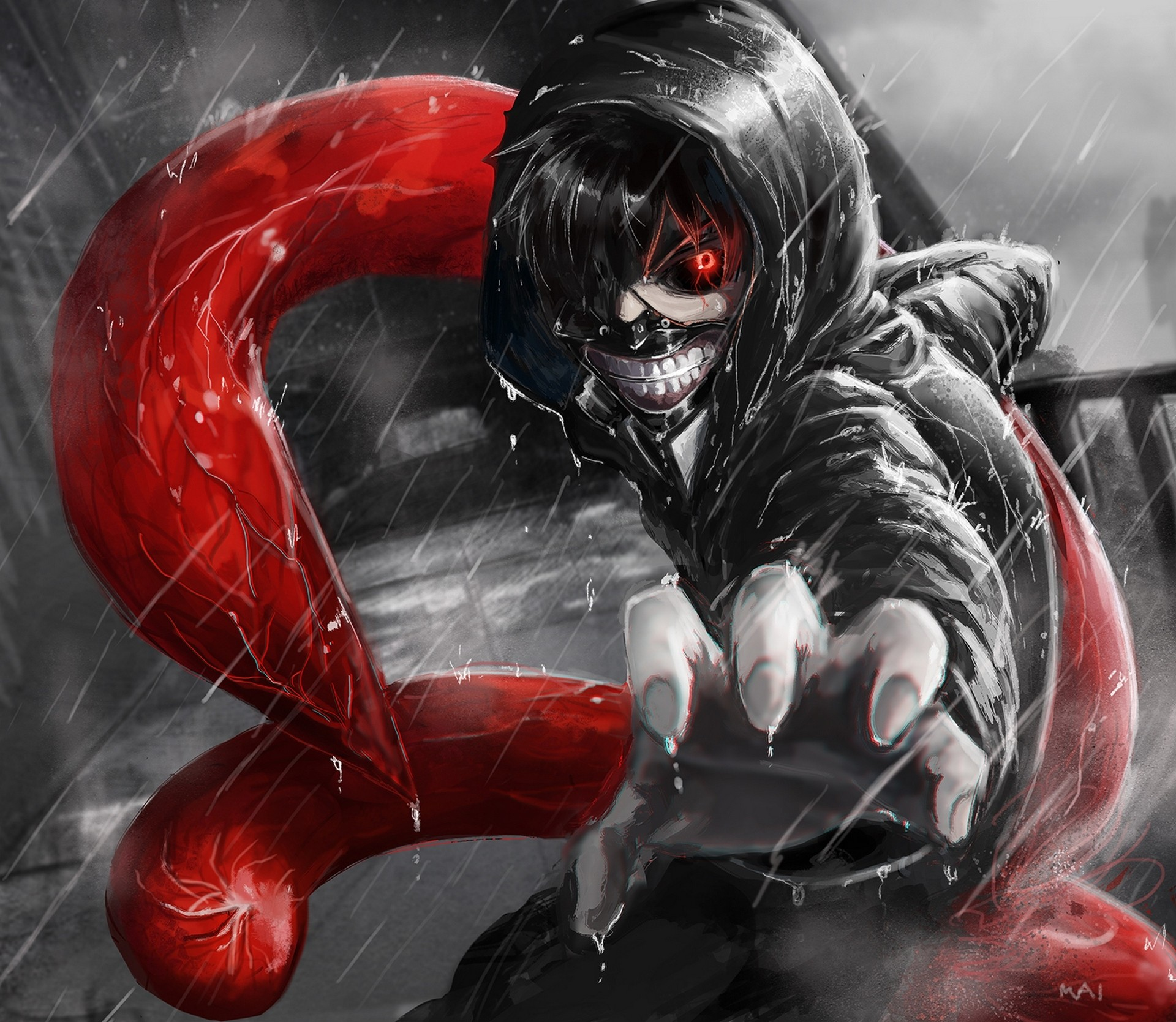 Tokyo ghoul anime all characters wallpaper tokyo ghoul. Wallpaper : illustration, red, superhero, Kaneki Ken ...